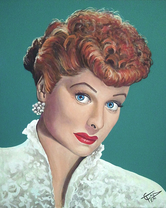 I Love Lucy Painting - Lucille Ball by Tom Carlton