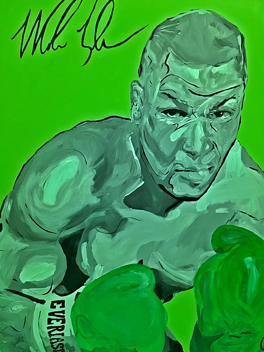 Mike Tyson Painting - Lucky Charm by Miriam Moran