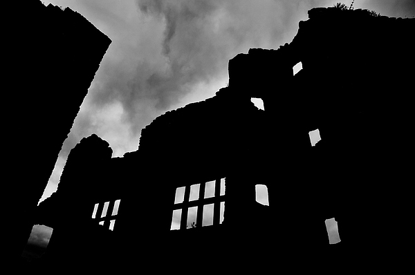 Castle Photograph - Ludlow Storm Threatening Skies Over The Ruins Of A Castle Spooky Halloween by Andy Smy