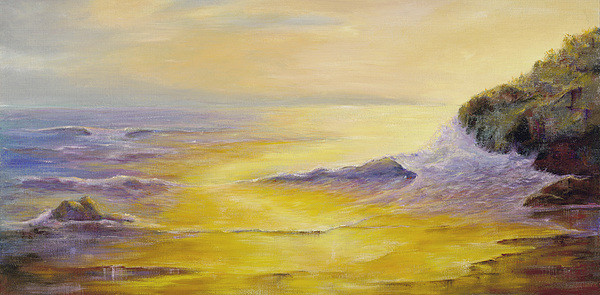 Seascape Painting - Lufenholtz At Sunset by Rebecca Kimbel
