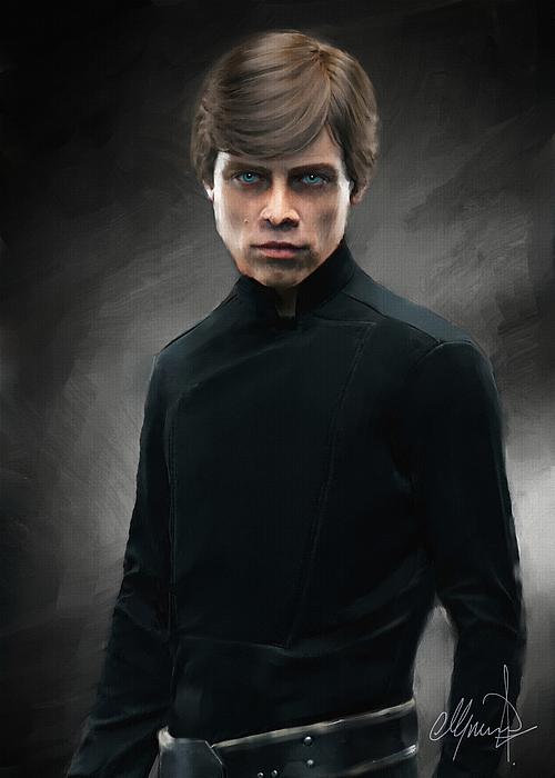 Luke Skywalker Digital Art - Luke Skywalker by Michael Greenaway