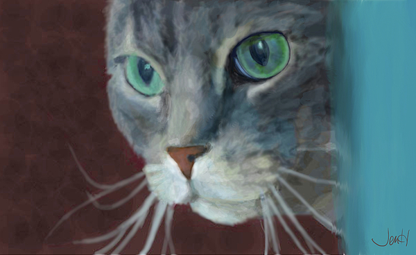 Cat Painting - Lullabella by Jennifer Hickey