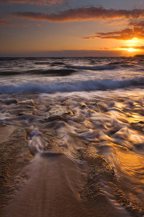Beach Photograph - Lumahai Dawn by Mike  Dawson