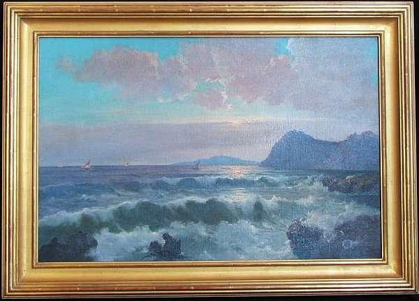 Luminist Seascape Painting by Salvi