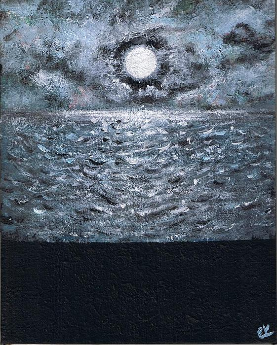 Seascape Painting - Lunar Landing by E K L Studio