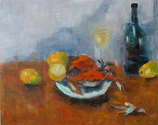 Crabs Painting - Lunch by Glynis Berger