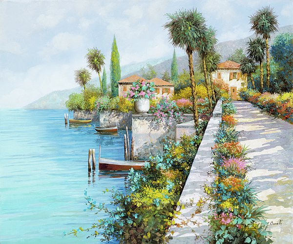 Lake Painting - Lungolago by Guido Borelli