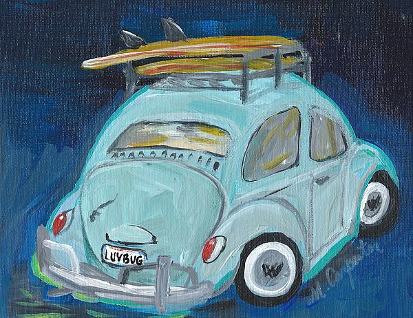 Vw Painting - Luvbug by Mindy Carpenter