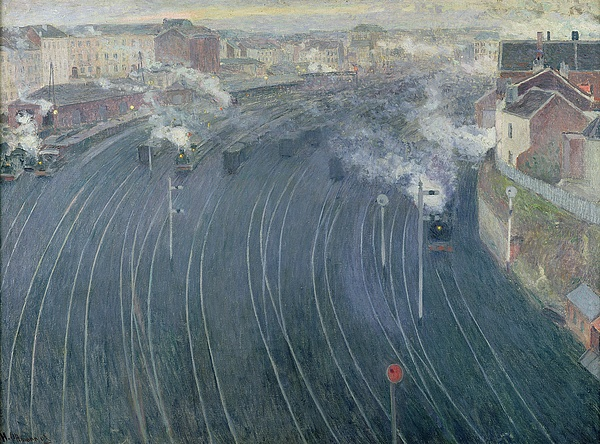 Luxembourg Painting - Luxembourg Station by Henri Ottmann