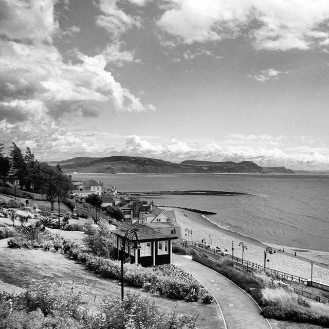 Blackandwhitephotography Photograph - Lyme Regis And Lyme Bay, Dorset by John Edwards