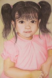 Portraits Drawing - Lyndseys Grand Daughter by Janet Gioffre Harrington