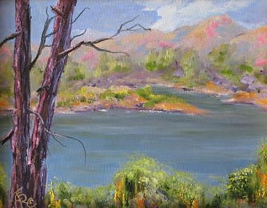 Plein Air Painting - Lynx Lake by Thomas Restifo