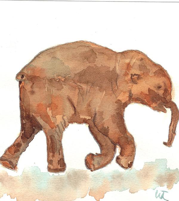 Lyuba Painting - Lyuba The Ice Baby Mammoth  by Warren Thompson