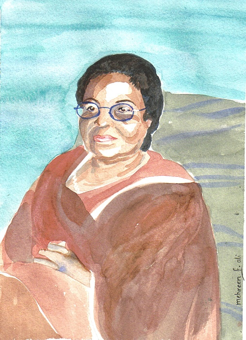 Portrait Painting - Ma by Mehreen Ali