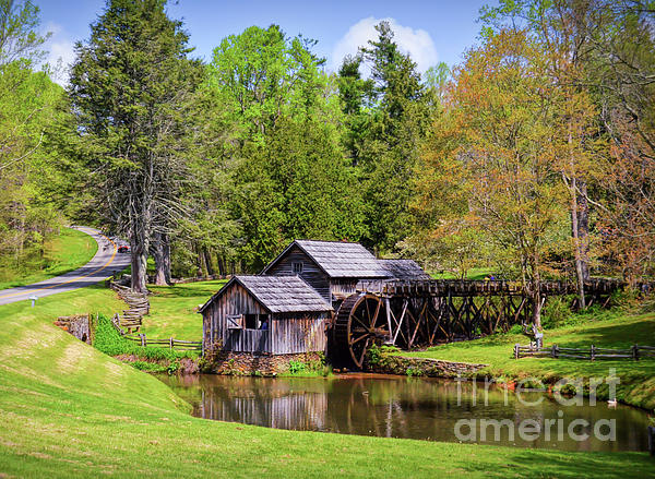 Mabry Mill Photograph - Mabry Mill In The Springtime On The Blue Ridge Parkway  by Kerri Farley
