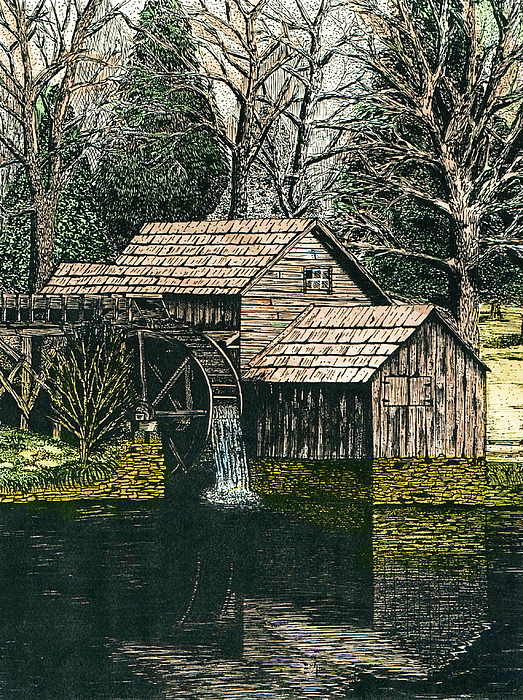 Mabry Mill Drawing - Mabry Mill by Mike OBrien