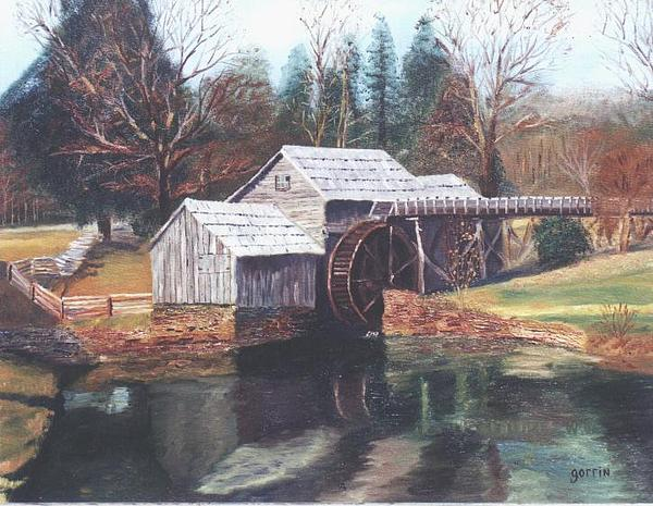 Water Mill Painting - Mabry Mill by Roger E Gorrin