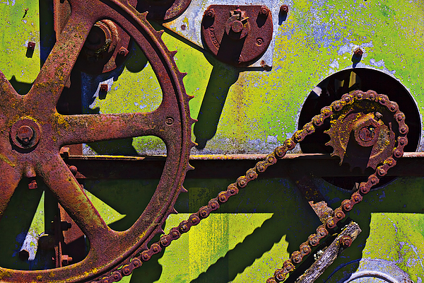 Machinery Photograph - Machinery Gears  by Garry Gay