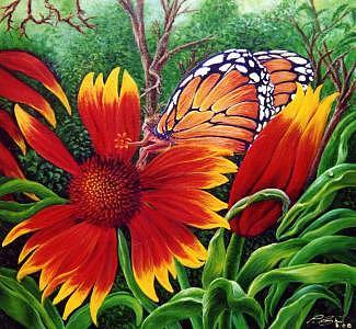 Madam Butterfly Painting by Pravit Rojawat
