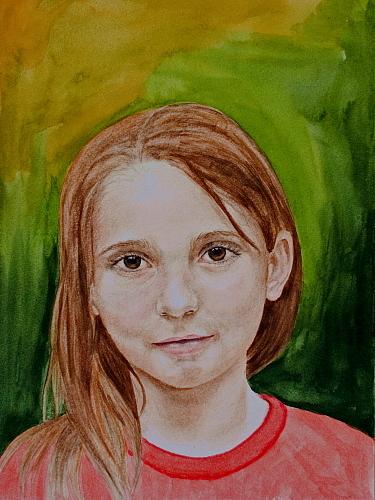 Portrait Painting - Madeleine by Monika Degan