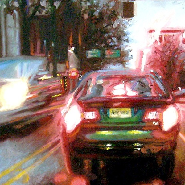 Madison Traffic Painting by Cameron Hampton P S A
