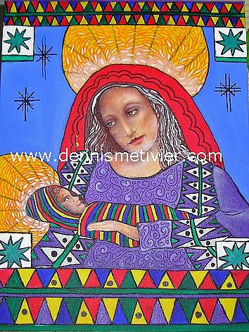 Madonna Painting - Madonna And Child by Dennis  Metivier