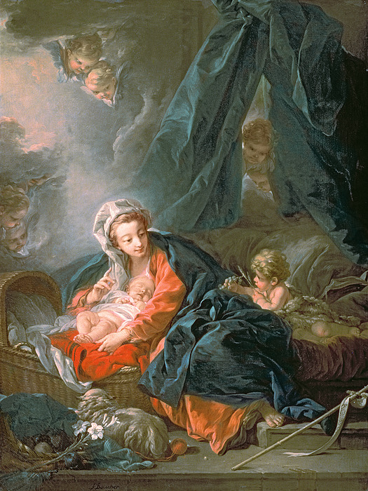 Madonna Painting - Madonna And Child by Francois Boucher