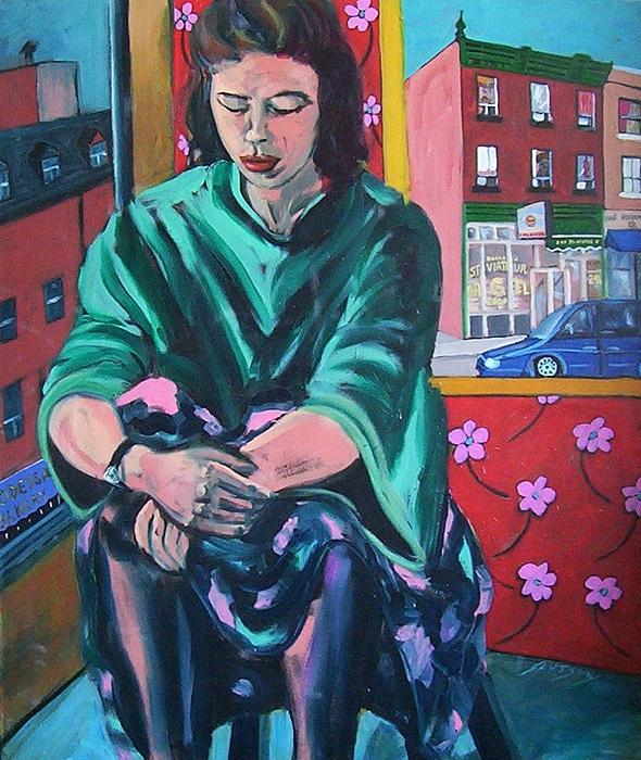 Woman Painting - Madonna Of The Bakeries by Erik Slutsky