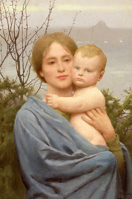 Madonna Painting - Madonna Of The Mount  by Thomas Cooper Gotch