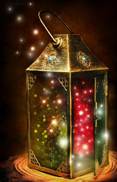 Digital Painting Digital Art - Magic Lantern by Laurie Hasan