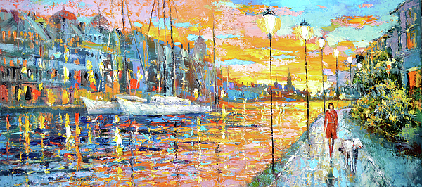 Magical Sunset Painting by Dmitry Spiros