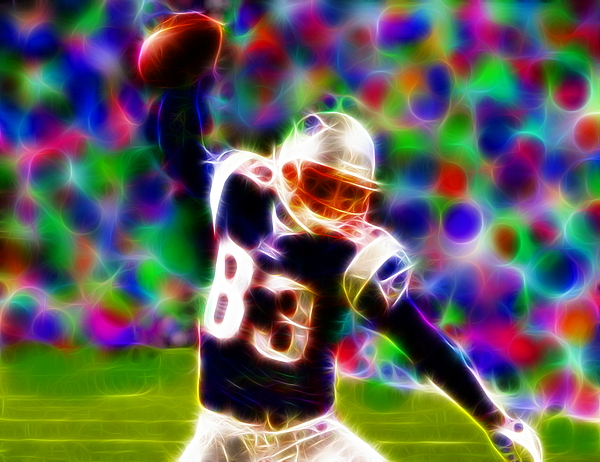 New England Patriots Painting - Magical Wes Welker  by Paul Van Scott