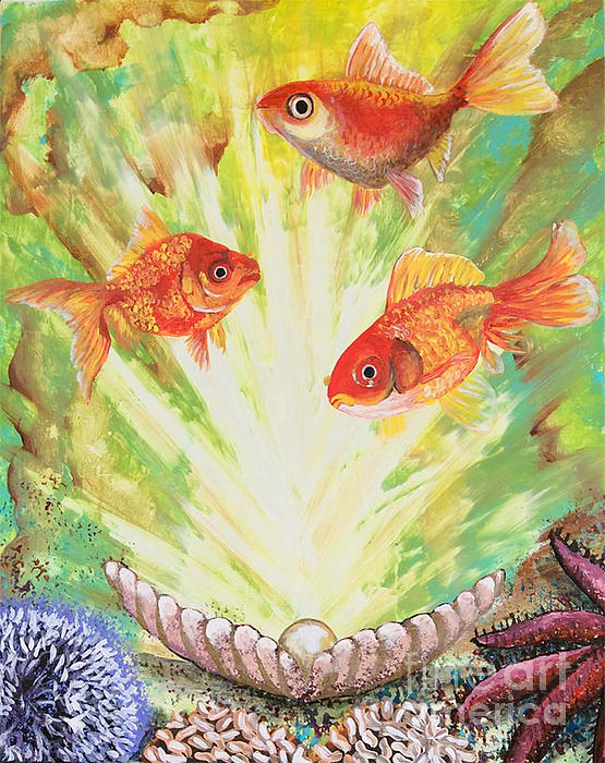 Fish Painting - Magical World by Jacqueline Martin