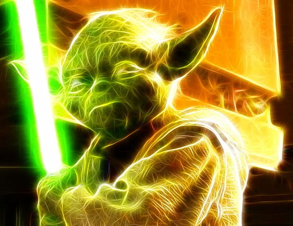 Yoda Painting - Magical Yoda by Paul Van Scott