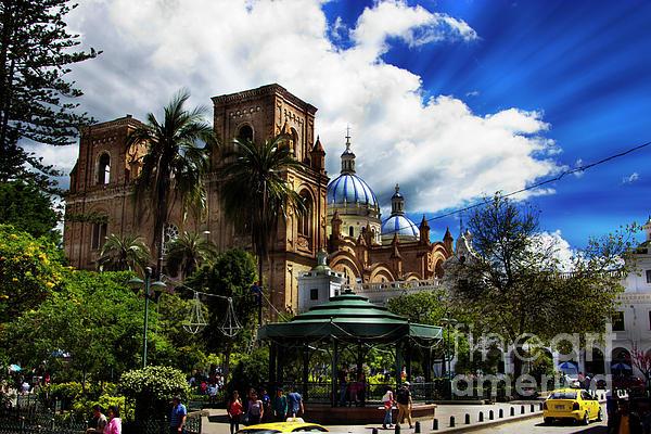 Domes Photograph - Magnificent Center Of Cuenca, Ecuador IIi by Al Bourassa