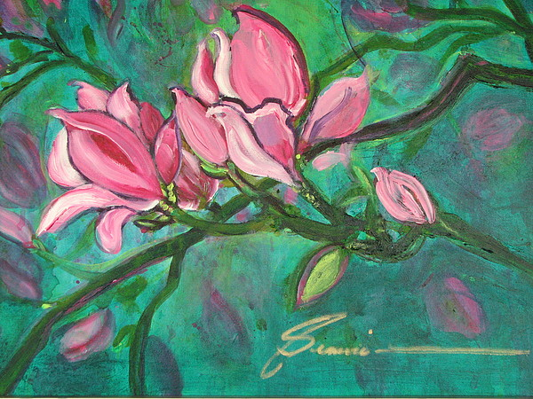 Magnolia Tree Painting - Magnifico by Genevie Henderson