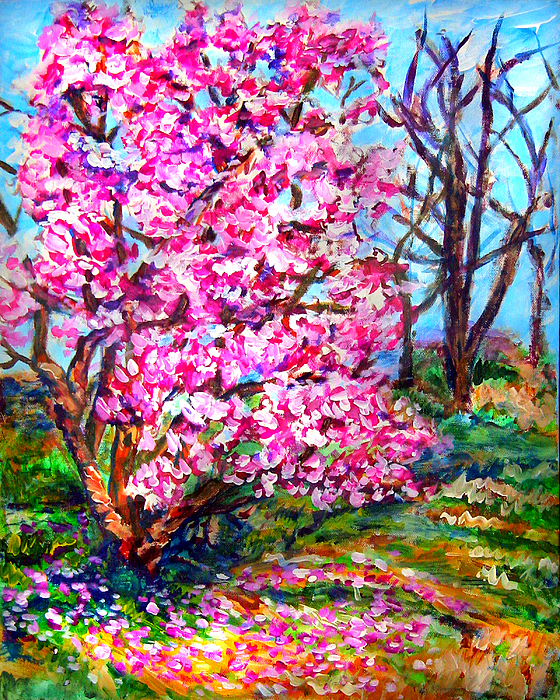 Landscape Painting - Magnolia - Early Spring by Laura Heggestad