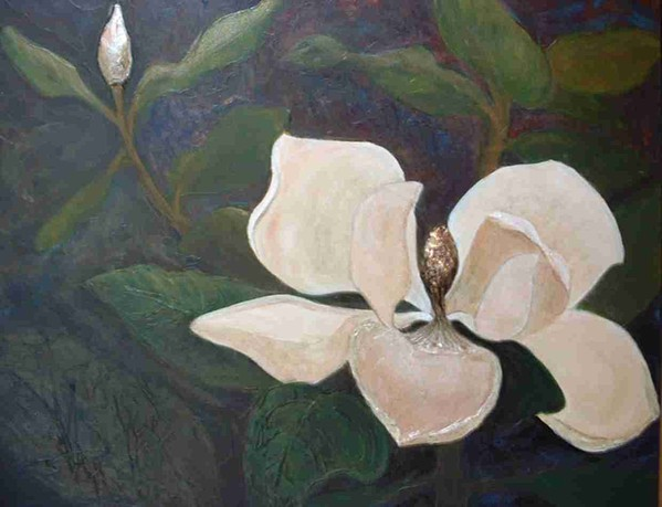 Magnolia Painting - Magnolia Spring by Win Peterman