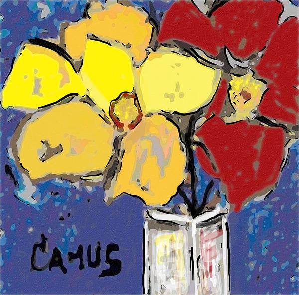 Art Painting - Magnolia Y Colores by Carlos Camus