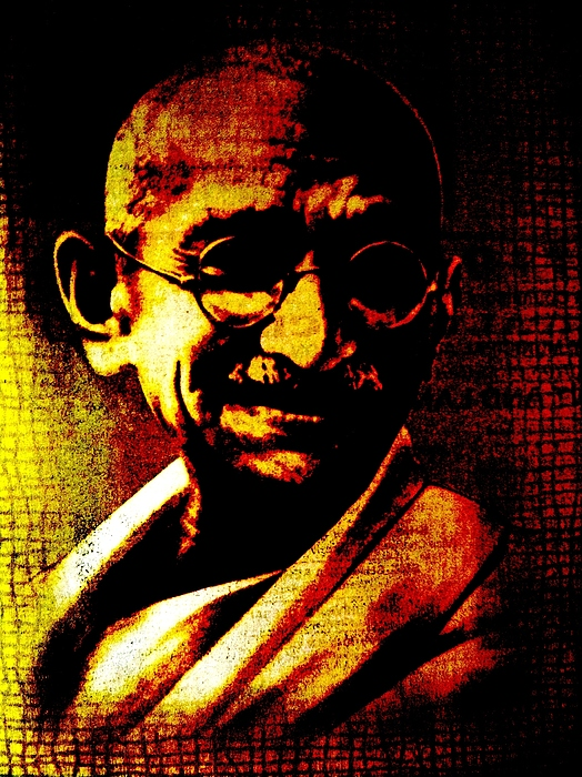 Colors Digital Art - Mahatma Gandhi by Piety Dsilva