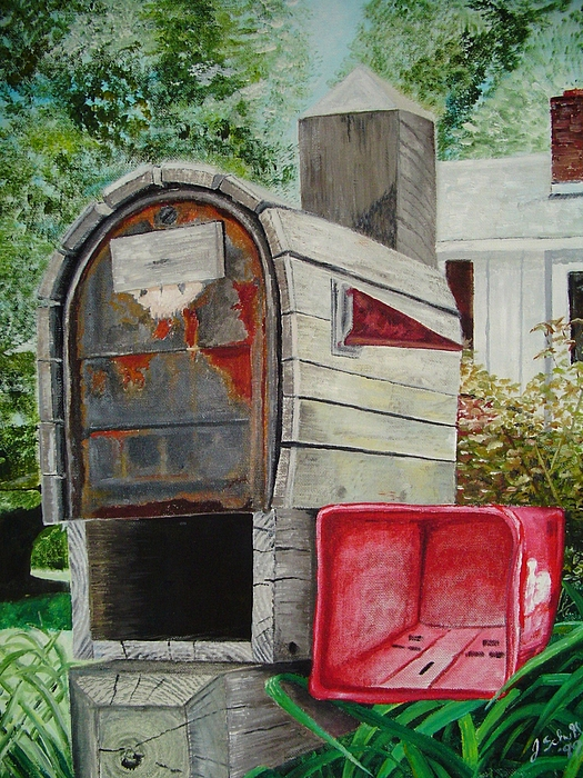 Mailbox Painting - Mailbox by John Schuller