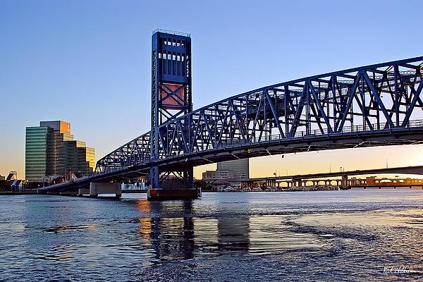 Jacksonville Photograph - Main Street Bridge At Sunset by Rick Wilkerson