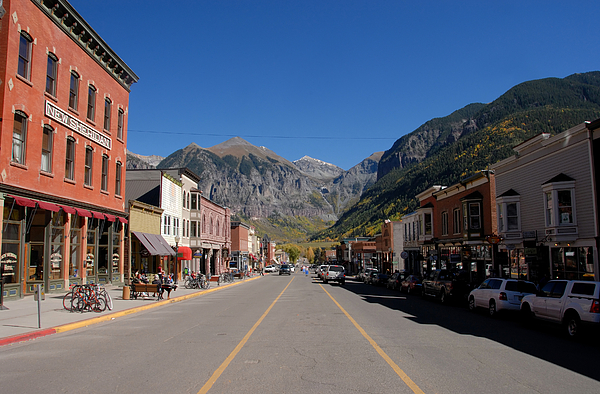 Telluride Colorado Photograph - Main Street Telluride by David Lee Thompson