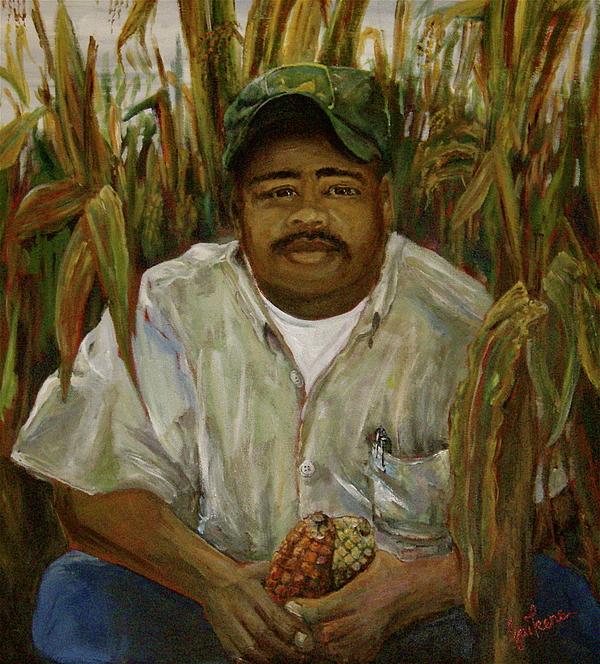 Farmer Painting - Maize Farmer by Linnie Aikens