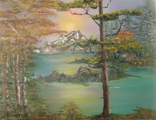 Landscape Painting - Majestic Cove by Mikki Alhart