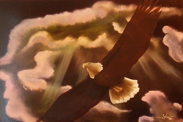 Airscape Painting - Majestic Native by Spider Ryan