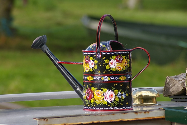 Watering Can Photograph - Make em Grow Better by Catja Pafort