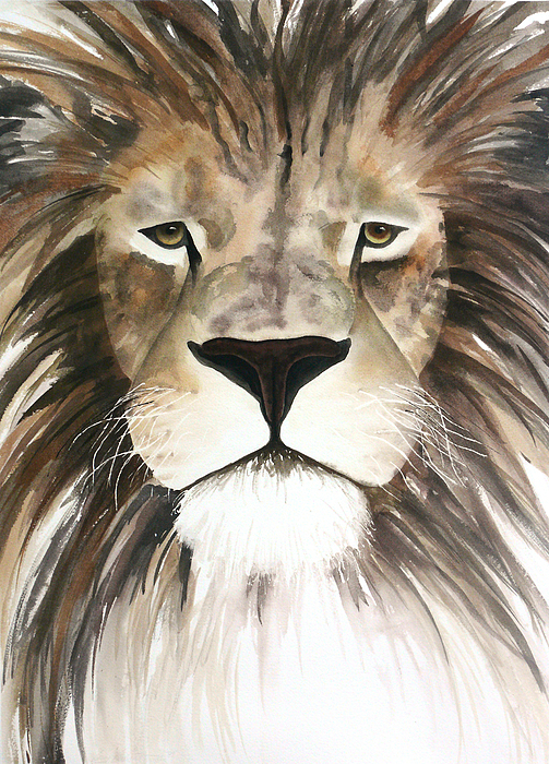 Lion Painting - Make My Day by Cory Calantropio