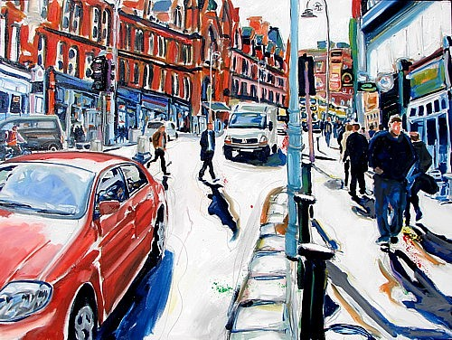 Dublin Painting - Making A Break For It by Caoimhghin OCroidheain