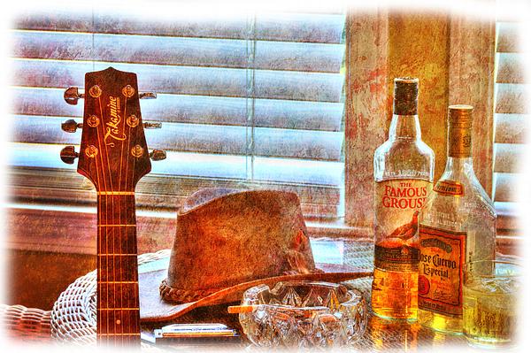Guitar Photograph - Making Music 002 by Barry Jones